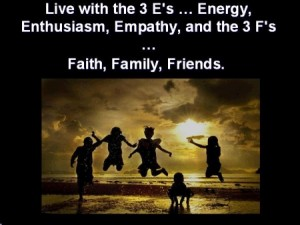 """Live with the 3 """"E"""""""